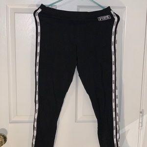black & white PINK victoria's secret leggings